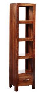 Cube Indian Wood Bookcase - Slim Jim