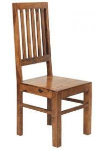 Cube Indian Wood High Slat back Chair (pair)