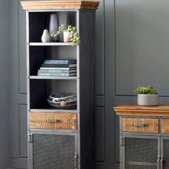 Cosmopolitan Industrial Narrow Bookcase