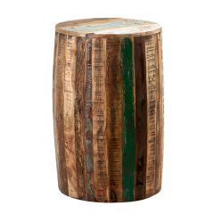 Driftwood Reclaimed Wood Drum Stool