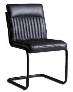 Dark Grey Modern Dining Chairs  - Set of 2