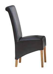 Dakota Light Mango Leather Dining Chair ( A Pair )