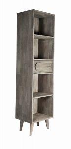 Greyston Wooden Slim Tall Bookcase